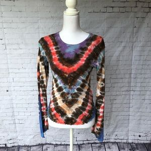 Lucky Brand Tie-Dye Angel Sleeve Top